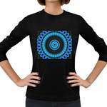 KaleidoFlower-208768 Women s Long Sleeve Dark T-Shirt
