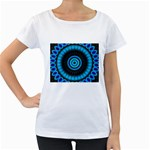 KaleidoFlower-208768 Maternity White T-Shirt