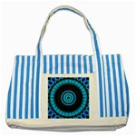 KaleidoFlower-208768 Striped Blue Tote Bag