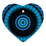 KaleidoFlower-208768 Heart Ornament (Two Sides)