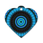 KaleidoFlower-208768 Dog Tag Heart (Two Sides)