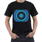 KaleidoFlower-208768 Black T-Shirt