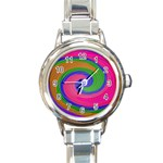 Magic_Colors_Twist_Soft-137298 Round Italian Charm Watch