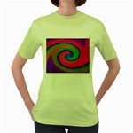 Magic_Colors_Twist_Soft-137298 Women s Green T-Shirt