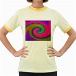 Magic_Colors_Twist_Soft-137298 Women s Fitted Ringer T-Shirt