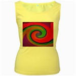 Magic_Colors_Twist_Soft-137298 Women s Yellow Tank Top
