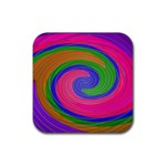Magic_Colors_Twist_Soft-137298 Rubber Square Coaster (4 pack)