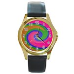 Magic_Colors_Twist_Soft-137298 Round Gold Metal Watch