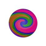 Magic_Colors_Twist_Soft-137298 Rubber Round Coaster (4 pack)