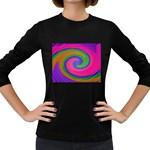 Magic_Colors_Twist_Soft-137298 Women s Long Sleeve Dark T-Shirt