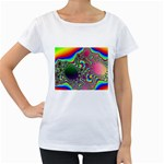 rainbow_xct1-506376 Maternity White T-Shirt