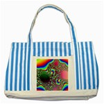rainbow_xct1-506376 Striped Blue Tote Bag