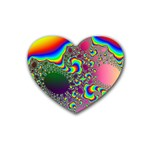 rainbow_xct1-506376 Rubber Coaster (Heart)