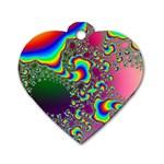 rainbow_xct1-506376 Dog Tag Heart (One Side)