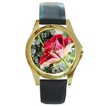 1-4 Round Gold Metal Watch