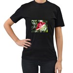 1-4 Women s Black T-Shirt (Two Sides)