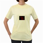 apoth_rose_v Women s Yellow T-Shirt