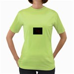 apoth_rose_v Women s Green T-Shirt