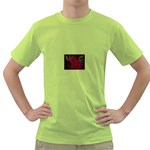 apoth_rose_v Green T-Shirt