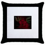 apoth_rose_v Throw Pillow Case (Black)