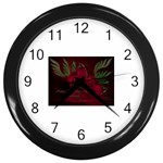 apoth_rose_v Wall Clock (Black)