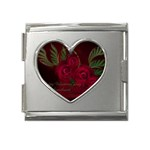 apoth_rose_v Mega Link Heart Italian Charm (18mm)