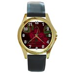 apoth_rose_v Round Gold Metal Watch