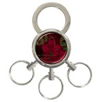 apoth_rose_v 3-Ring Key Chain