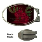 apoth_rose_v Money Clip (Oval)