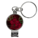 apoth_rose_v Nail Clippers Key Chain
