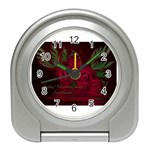 apoth_rose_v Travel Alarm Clock