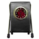apoth_rose_v Pen Holder Desk Clock