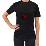 apoth_rose_v Women s Black T-Shirt (Two Sides)