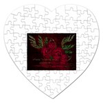 apoth_rose_v Jigsaw Puzzle (Heart)