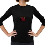 apoth_rose_v Women s Long Sleeve Dark T-Shirt