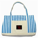 apoth_rose_v Striped Blue Tote Bag