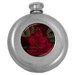 apoth_rose_v Hip Flask (5 oz)