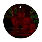 apoth_rose_v Round Ornament (Two Sides)