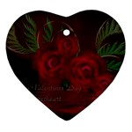 apoth_rose_v Heart Ornament (Two Sides)