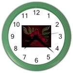 apoth_rose_v Color Wall Clock