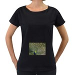 bird_15 Maternity Black T-Shirt