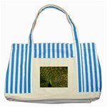 bird_15 Striped Blue Tote Bag