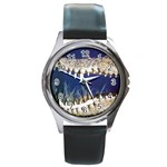 Croc Round Metal Watch
