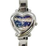 Croc Heart Italian Charm Watch