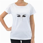 Eyes2 Maternity White T-Shirt