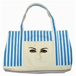 Eyes2 Striped Blue Tote Bag