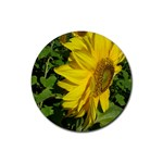 flowers_30 Rubber Coaster (Round)