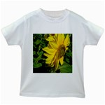 flowers_30 Kids White T-Shirt