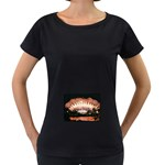 wallpaper_12492 Maternity Black T-Shirt