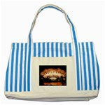 wallpaper_12492 Striped Blue Tote Bag